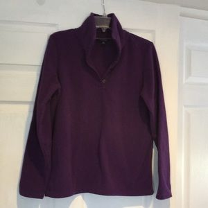 Lands End pullover purple fleece